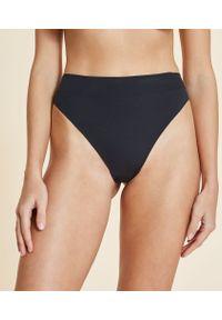 Confort Majtki Brazyliany High Leg Z Wysokim Stanem - L - Czarny - Etam. Stan: podwyższony. Kolor: czarny. Materiał: materiał
