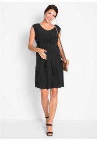 Sukienka ciążowa bonprix czarny. Kolekcja: moda ciążowa. Kolor: czarny