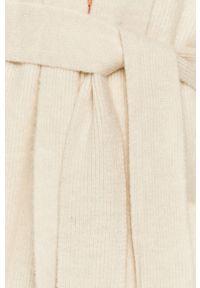 Beżowy sweter rozpinany Answear Lab z długim rękawem, wakacyjny, na co dzień