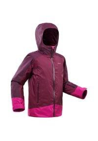 WEDZE - Kurtka narciarska 500 dla dzieci. Kolor: wielokolorowy, różowy, fioletowy. Materiał: materiał. Sezon: zima. Sport: narciarstwo
