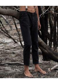 ONETEASPOON - Czarne jeansy Mr Classics. Kolor: czarny. Długość: długie. Wzór: aplikacja. Styl: rockowy, klasyczny, sportowy