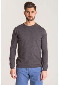 Szary sweter Joop! Collection z aplikacjami