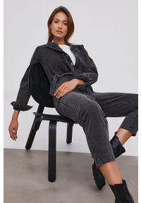 Answear Lab - Kombinezon jeansowy. Okazja: na co dzień. Kolor: czarny. Materiał: jeans. Styl: wakacyjny