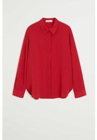 Czerwona koszula mango klasyczna, długa