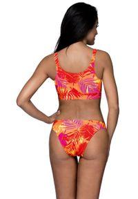 Wielokolorowy strój kąpielowy dwuczęściowy Lorin z odpinanymi ramiączkami