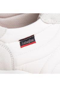 Callaghan - Sneakersy CALLAGHAN - Luxe 17801 Blanco/Mare. Kolor: biały. Materiał: zamsz, materiał, skóra. Szerokość cholewki: normalna. Styl: klasyczny