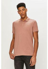Różowa koszulka polo Premium by Jack&Jones na co dzień, polo