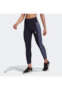Adidas - Legginsy 7/8 fitness damskie. Materiał: skóra, materiał, poliester. Sport: fitness