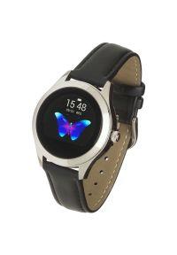 Czarny zegarek GARETT smartwatch, elegancki