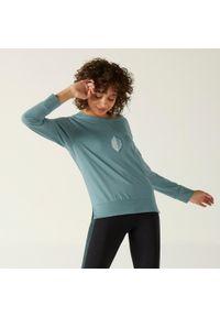 NYAMBA - Koszulka z długim rękawem fitness. Kolor: zielony. Materiał: materiał, bawełna, elastan, poliester, lyocell. Długość rękawa: długi rękaw. Długość: długie. Wzór: nadruk, moro. Sport: fitness