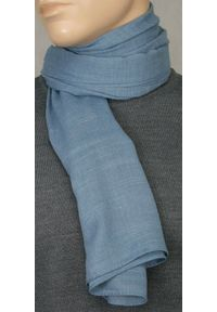 Niebieski szalik Teer na spacer, na jesień