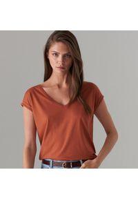Pomarańczowy t-shirt Mohito