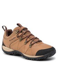Brązowe buty trekkingowe columbia z cholewką, trekkingowe
