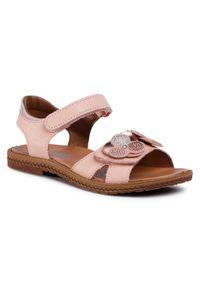 Różowe sandały Imac z aplikacjami, na lato
