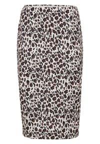 Spódnica ołówkowa bonprix w cętki leoparda. Kolor: beżowy. Styl: elegancki
