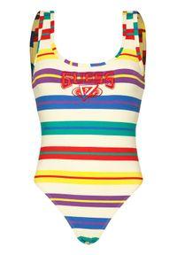 Bluzka body Guess w kolorowe wzory