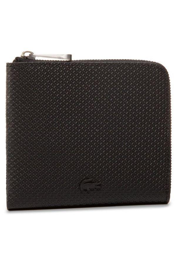 Czarny portfel Lacoste
