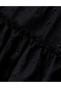 LOVE & ROSE - Czarna sukienka Mona. Kolor: czarny. Materiał: koronka, bawełna. Długość rękawa: na ramiączkach. Wzór: kwiaty, aplikacja, koronka. Sezon: lato