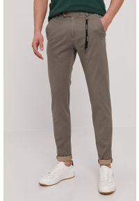 Beżowe spodnie Strellson gładkie