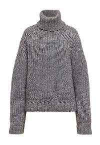 IVY & OAK - Sweter. Typ kołnierza: golf. Kolor: szary. Materiał: materiał, wełna. Długość rękawa: długi rękaw. Długość: długie