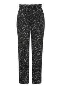 Cellbes Szerokie, wzorzyste spodnie Czarny w kropki female czarny/ze wzorem 34. Kolor: czarny. Materiał: tkanina, guma. Wzór: kropki. Styl: klasyczny