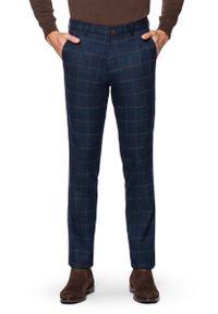 Spodnie Lancerto eleganckie, długie, w kratkę
