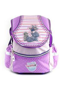 Fioletowy plecak Me To You w grochy
