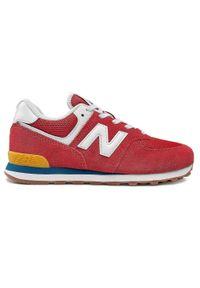 New Balance - Sneakersy NEW BALANCE - GC574HA2 Czerwony. Okazja: na co dzień. Kolor: czerwony. Materiał: skóra, materiał, zamsz. Szerokość cholewki: normalna. Styl: casual