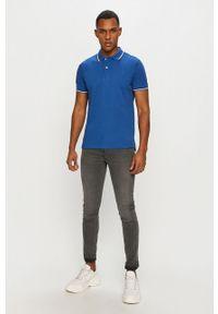 Niebieska koszulka polo Geox casualowa, polo, na co dzień, krótka