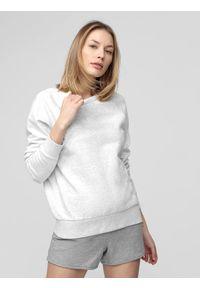 4f - Bluza damska. Okazja: na co dzień. Kolor: biały. Materiał: dzianina, materiał. Styl: casual