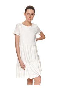 Biała sukienka TOP SECRET koszulowa