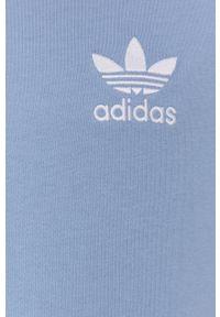 adidas Originals - T-shirt bawełniany. Okazja: na co dzień. Kolor: niebieski. Materiał: bawełna. Długość rękawa: raglanowy rękaw. Wzór: aplikacja. Styl: casual