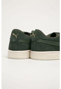 Zielone sneakersy Puma na sznurówki