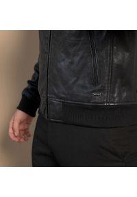 Czarna kurtka Wittchen elegancka, ze stójką