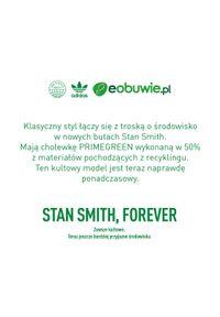 Adidas - Buty adidas - Stan Smith J FX7519 Ftwwht/Ftwwht/Green. Zapięcie: sznurówki. Kolor: biały. Materiał: skóra. Szerokość cholewki: normalna. Styl: młodzieżowy