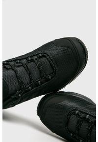 Czarne buty trekkingowe adidas Performance z cholewką, z okrągłym noskiem