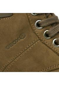 Geox - Trapery GEOX - J Navado B. B J845HB 032BC C6677 S Dk Brown. Kolor: brązowy. Materiał: nubuk, skóra ekologiczna
