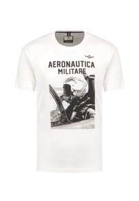 T-shirt Aeronautica Militare z nadrukiem, krótki, z krótkim rękawem, klasyczny