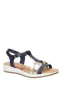 Niebieskie sandały Marila na co dzień, na lato