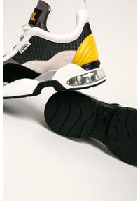 Szare buty sportowe Karl Lagerfeld z okrągłym noskiem, z cholewką, na sznurówki