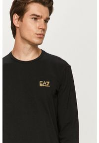 EA7 Emporio Armani - Longsleeve. Okazja: na co dzień. Kolor: czarny. Materiał: dzianina. Długość rękawa: długi rękaw. Styl: casual