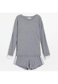 Piżama z szortami - Czarny