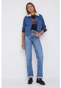 Lee - Kurtka jeansowa. Okazja: na co dzień. Kolor: niebieski. Materiał: jeans. Styl: casual