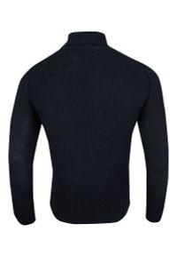 Niebieski sweter Brave Soul elegancki, z golfem