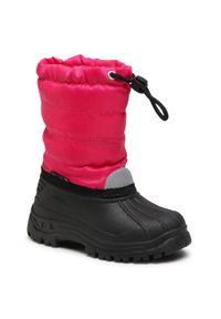 Playshoes - Śniegowce PLAYSHOES - 193005 M Pink 18. Okazja: na spacer. Kolor: różowy. Materiał: materiał. Szerokość cholewki: normalna. Wzór: aplikacja