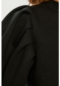 Vero Moda - Sukienka. Kolor: czarny. Materiał: dzianina, poliester. Długość rękawa: długi rękaw
