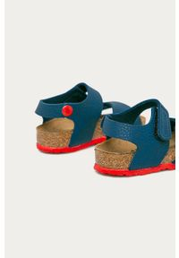 Niebieskie sandały Birkenstock na rzepy