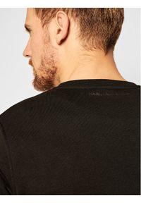 Karl Lagerfeld - KARL LAGERFELD Bluza Sweat 705011 502900 Czarny Regular Fit. Typ kołnierza: dekolt w karo. Kolor: czarny