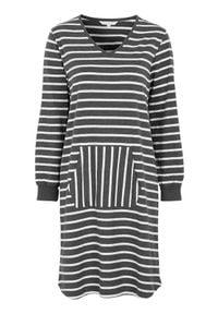 Cellbes Koszula nocna z długim rękawem w paski female ze wzorem 54/56. Długość: długie. Wzór: paski
