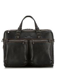 Czarna torba na laptopa Wittchen casualowa